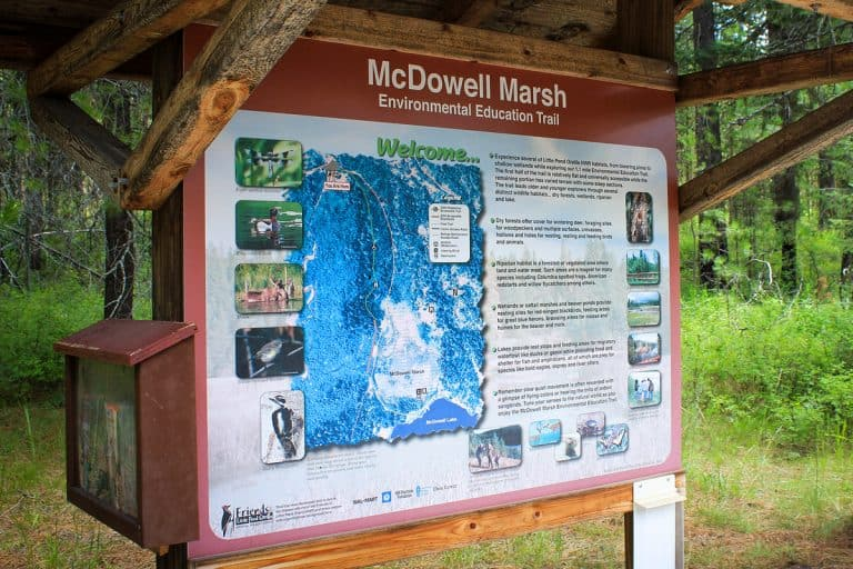 McDowell Marsh Trail sign- sm